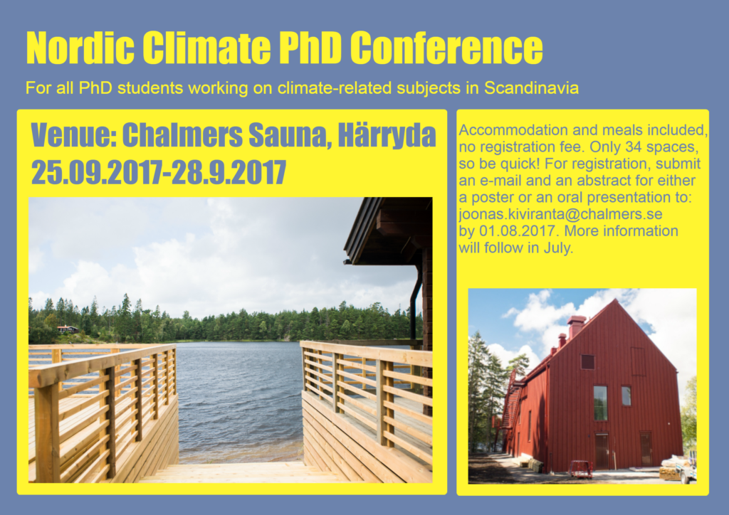 PhD Conference 2017 @ Chalmers sauna in Härryda, Sweden